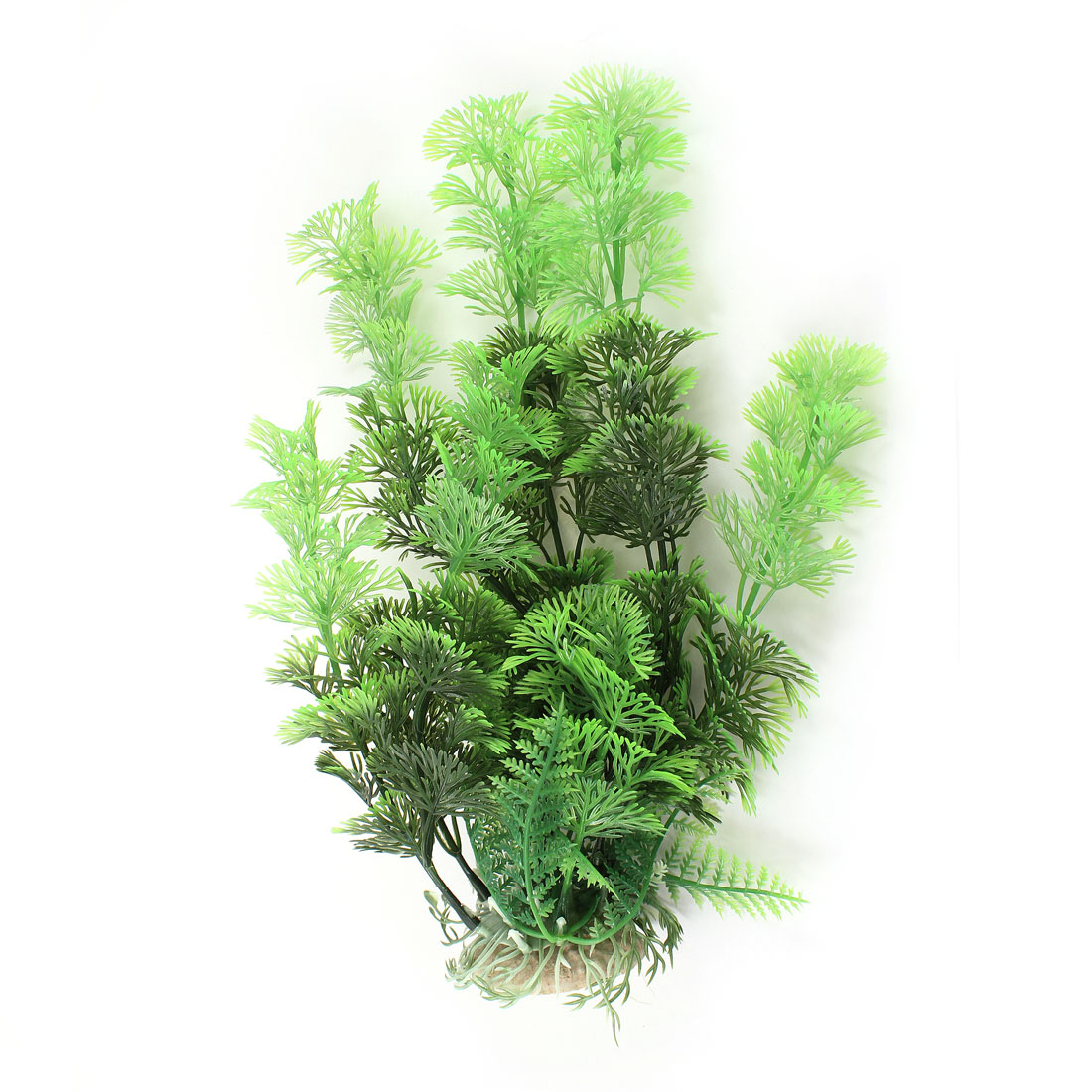 "11"" Height Green Plastic Manmade Water Grass Decor for Fish Tank"