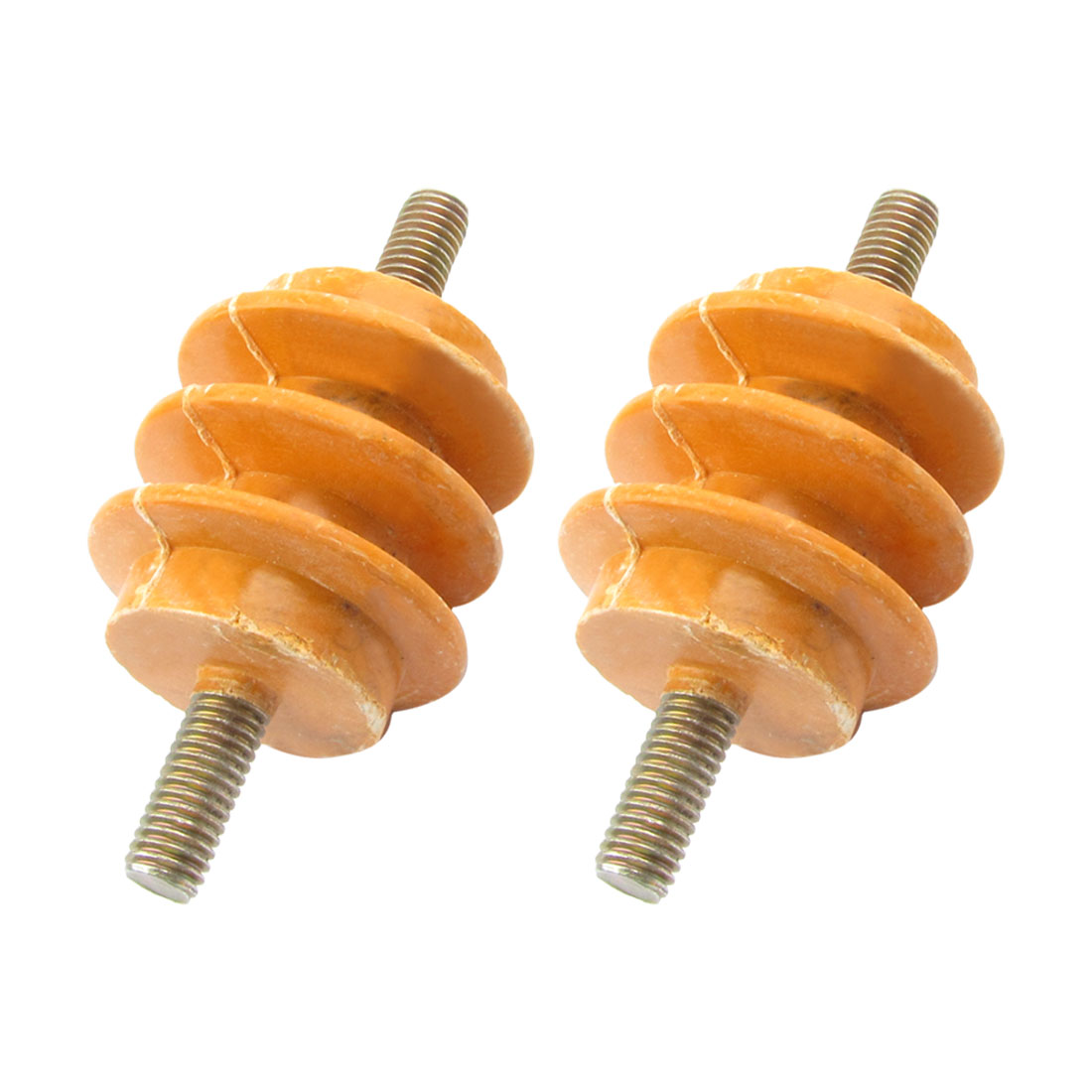 "2 Pcs 2"" Height 5/16"" Thread Dia 660V Busbar Enhanced Insulator Supporter"
