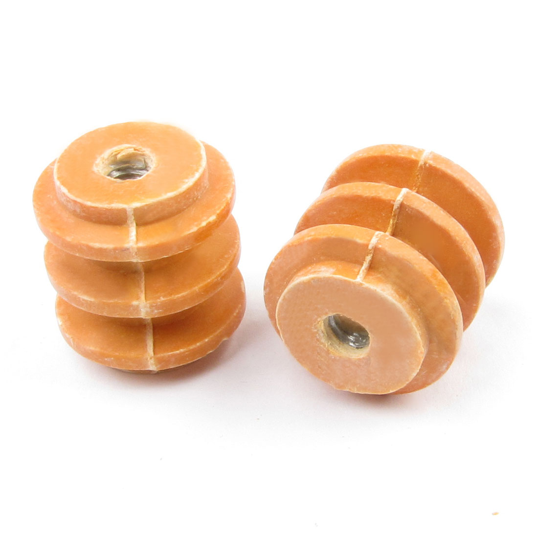 2 Pcs 25mm Height 6mm Thread 660V Busbar Insulator Support Connector