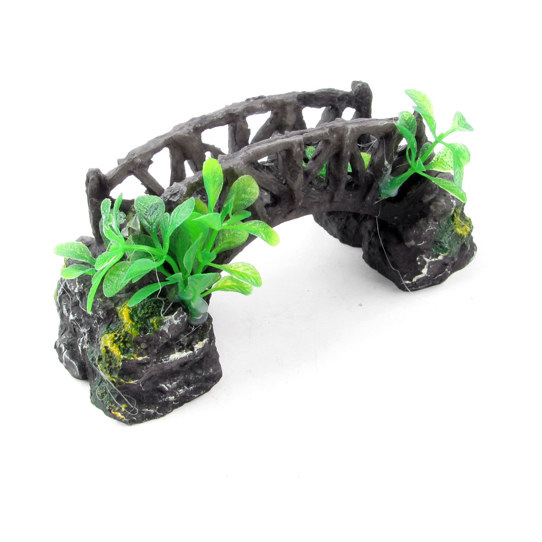 "Resin Arch Stone Bridge Ornament Decorative 6.3"" Long for Fish Tank"
