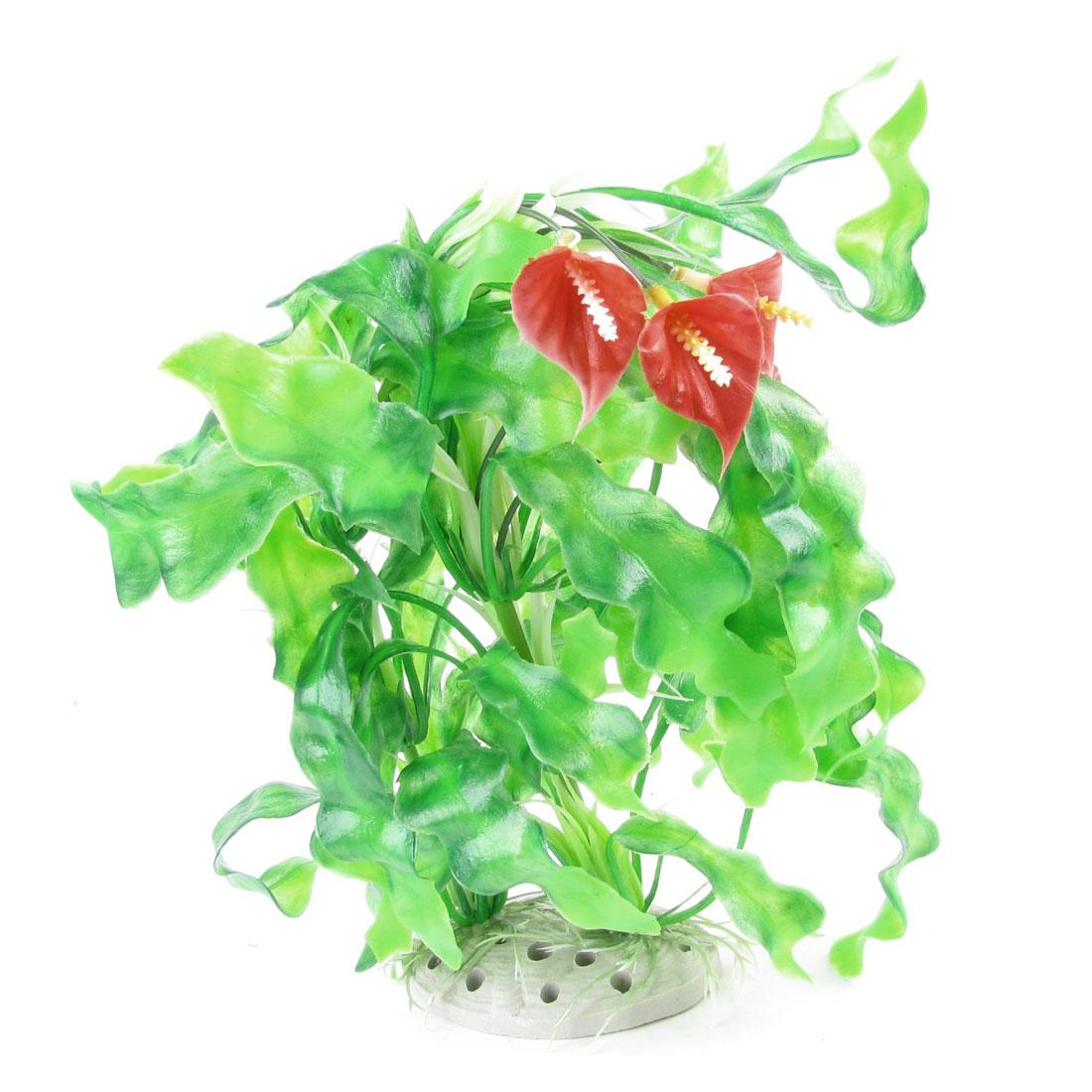 """12.2"""" Height Green Plastic Artificial Aquatic Grass Plant Decor for Aquariu"""