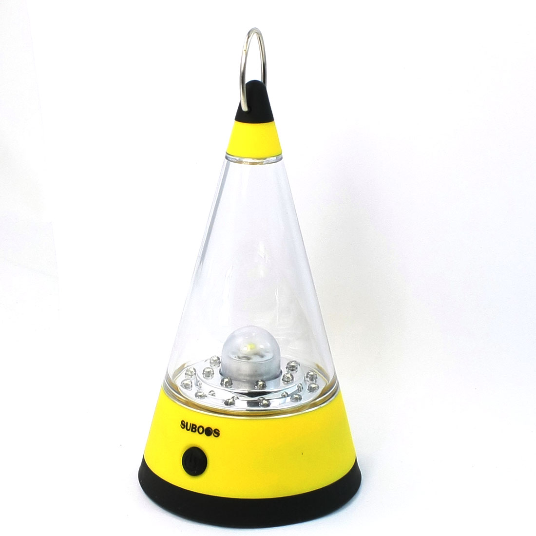 Battery Operation Cone Shaped 21 LEDs Lantern Lamp w Plastic Lampshade