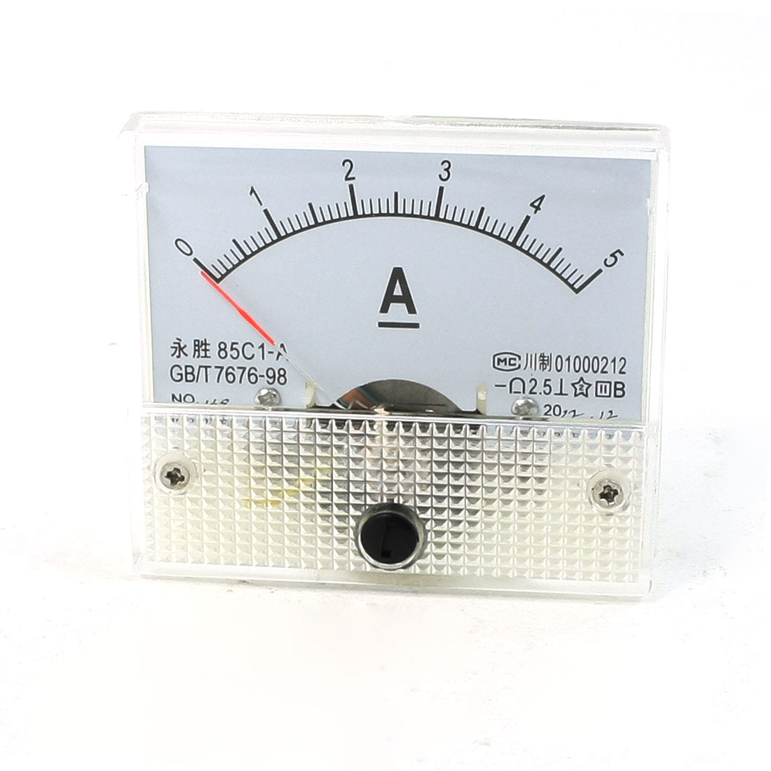 Clear Shell DC 0-5A Analog Panel Ammeter Gauge 85C1-A
