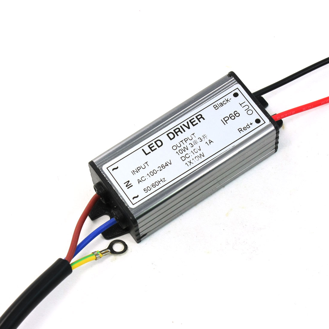 AC 100-264V to DC 10V 1A 10W IP66 Waterproof 3C3P LED Driver Power Adapter