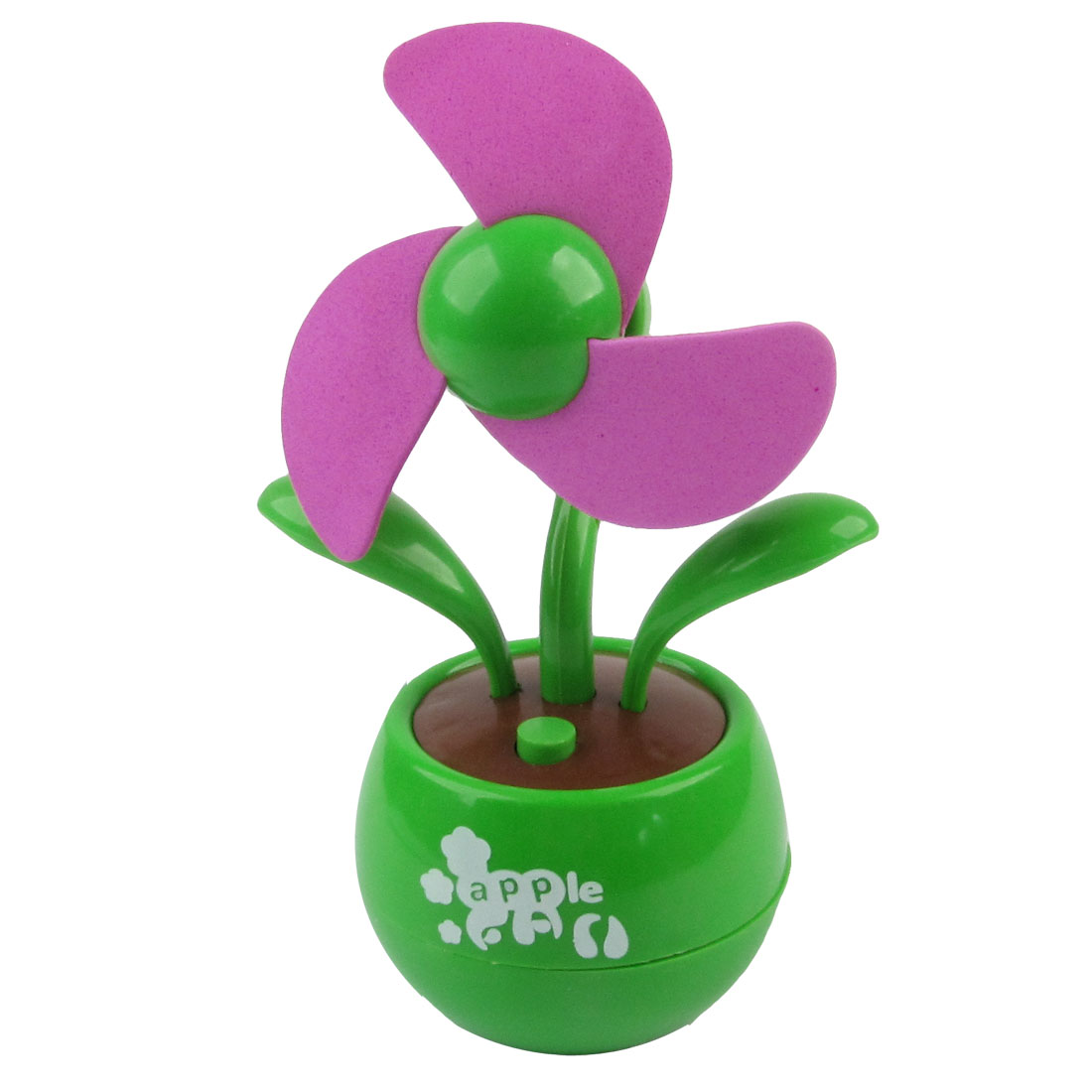 Apple Design Laptop Computer Foam Cutter USB Battery Mini Fan Fuchsia Green