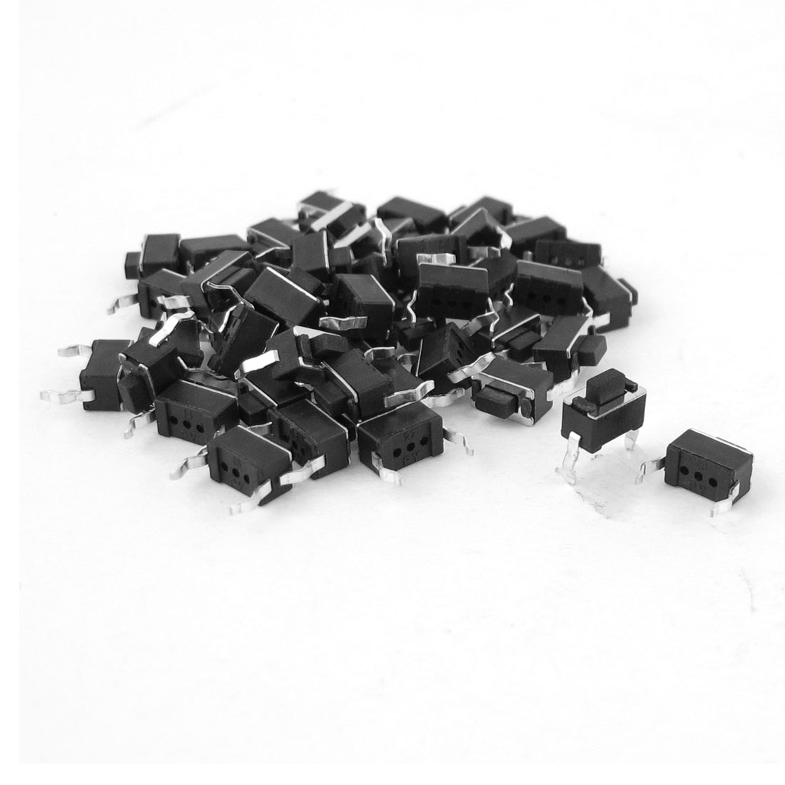 47pcs 3x6x5mm DIP Through Hole Momentary Tact Tactile Push Button Switch