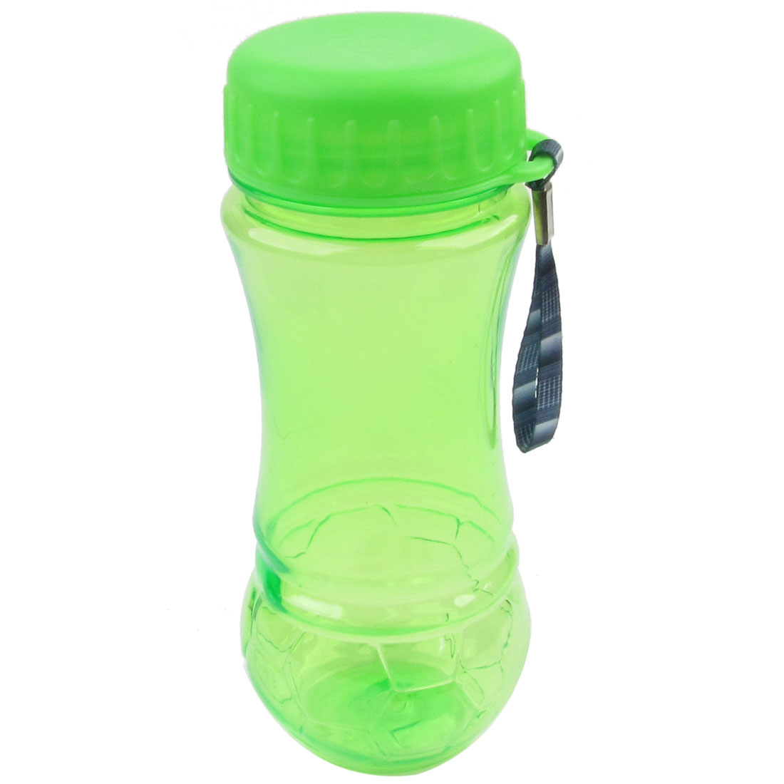 420ml Capacity Plastic Green Clear Hexagon Print Sport Water Bottle