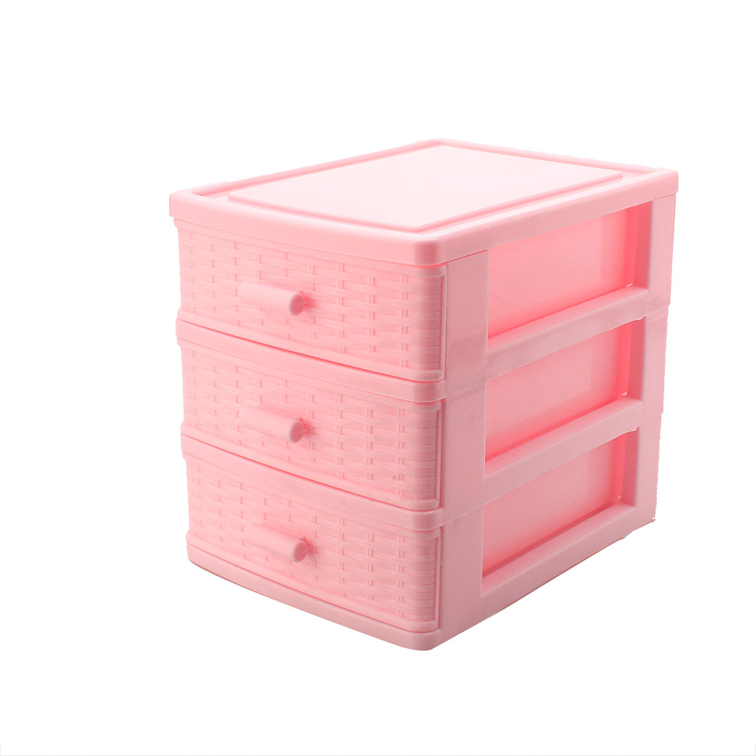 Light Pink Plastic Drawer Designed 3 Compartment Jewelry Findings Storage Box