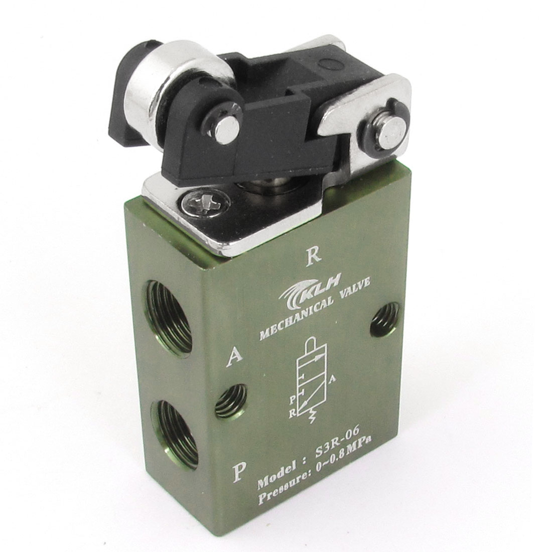 2 Position 3 Port Roller Pneumatic Air Mechanical Valve S3R-06