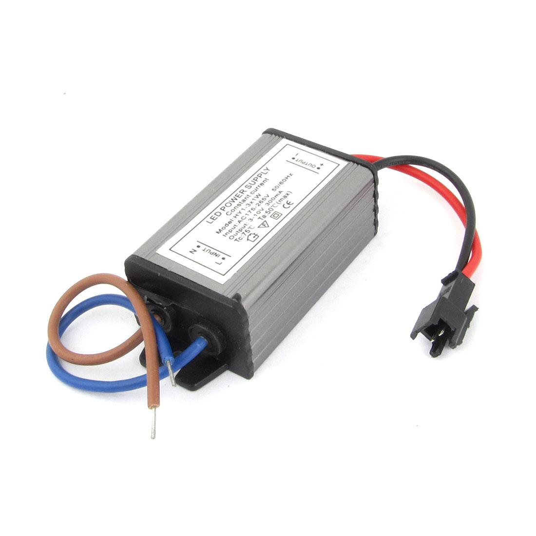 AC 175-265V 3-10V 300mA Aluminum Housing LED Power Supply Driver HY1-3X1W