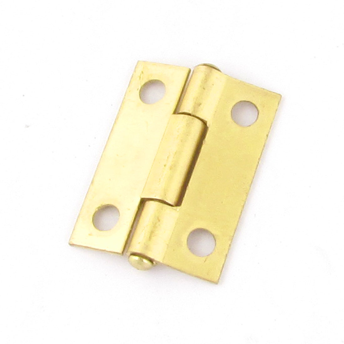 Office Cupboard Cabinet 3mm Mount Brass Tone Rotatable Door Hinge