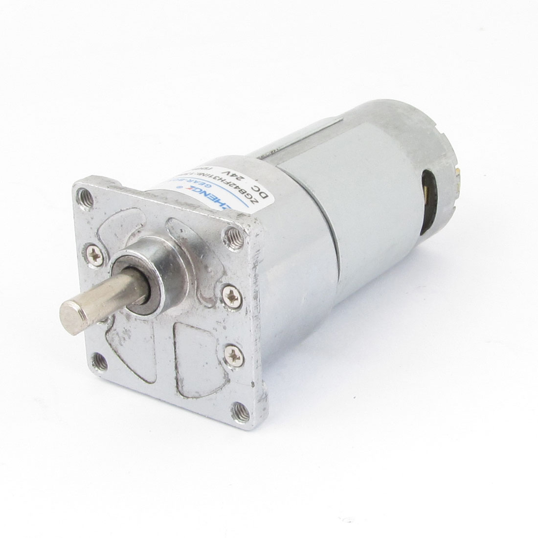 100RPM Rotate Speed Flange Mount Electric Geared Motor 24VDC