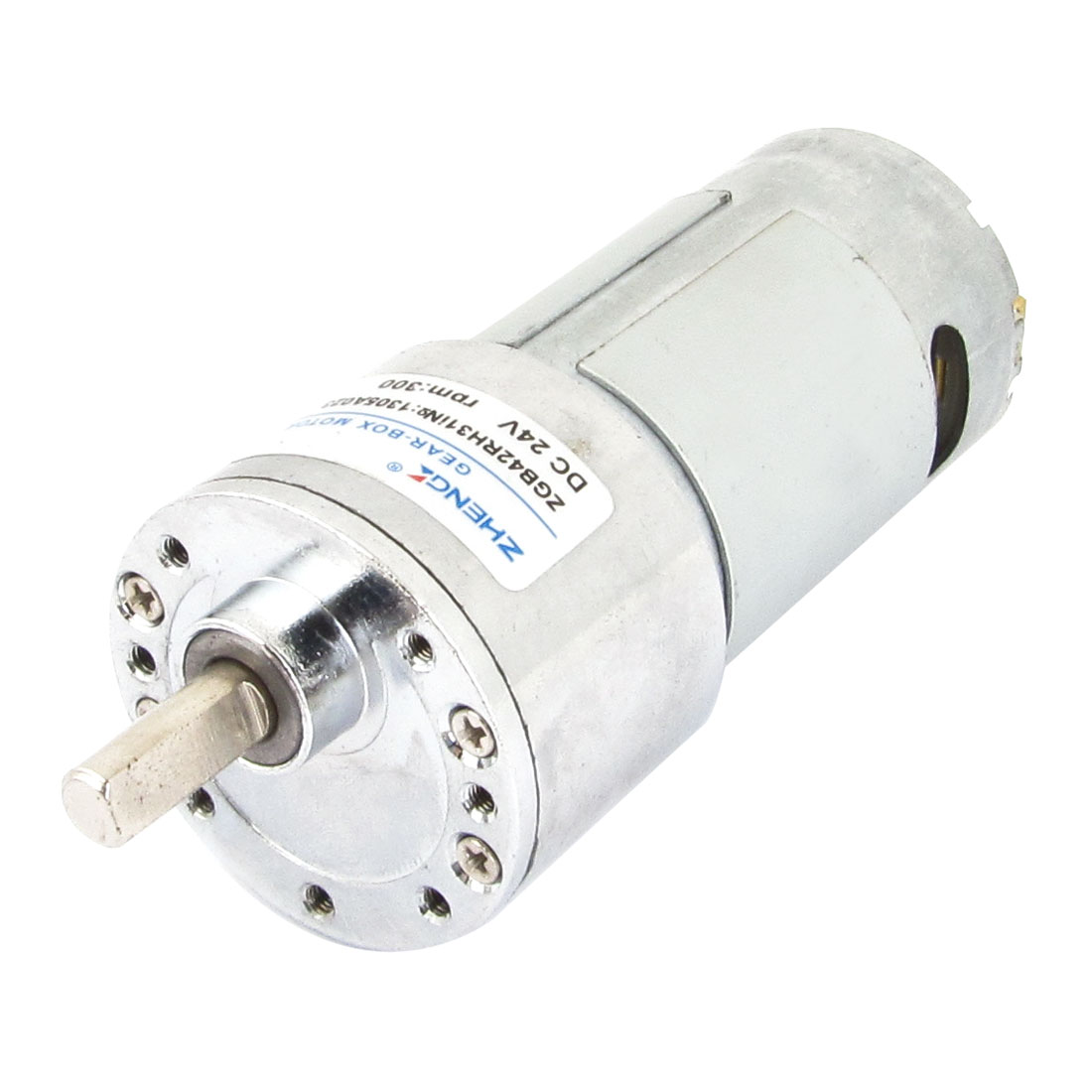 24V Voltage 300RPM Permanent Magnetism DC Geared Box Motor