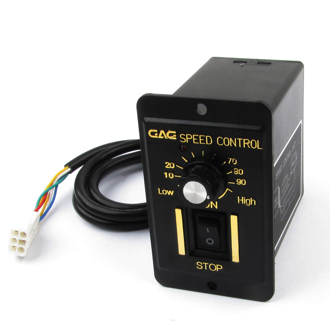 Plastic Shell AC 220V 25W Motor Speed Controller Black