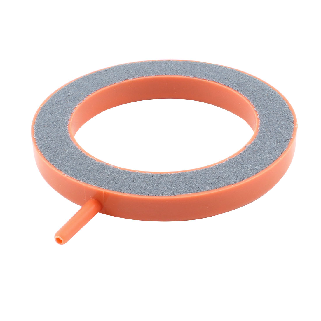 3mm Air Inlet Dia Round Bubble Airstone Orange Gray for Aquarium Fish Tank