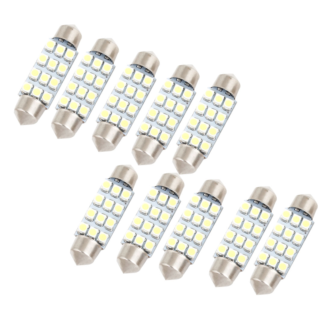 10x 41mm White 12 LED 3528 SMD Festoon Light Bulb 214-2 212-2 560 for Auto internal