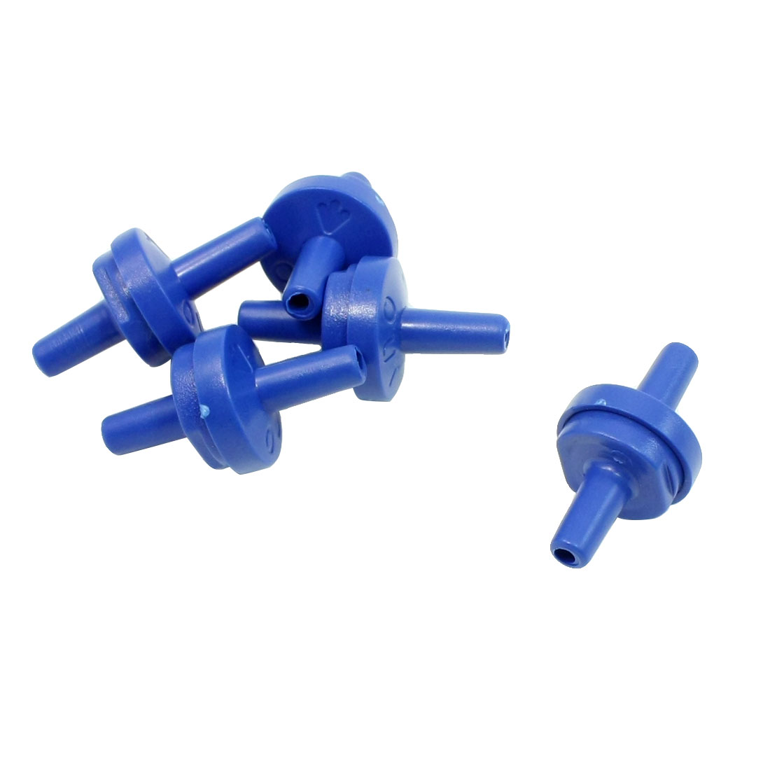 5 Pcs Blue Plastic Check Valves for Fish Tank Aquarium Air Pump