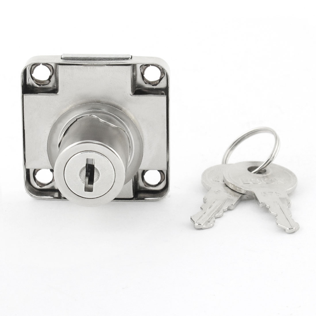 Family Silve Tone 40mm x 40mm Door Desk Drawer Cabinet Lock