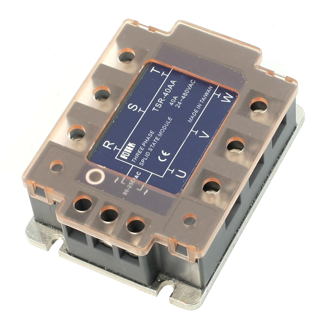 DC to AC 3 Phase Solid State Module Relay SSR TSR-40AA 40A 80-250V 24-480V