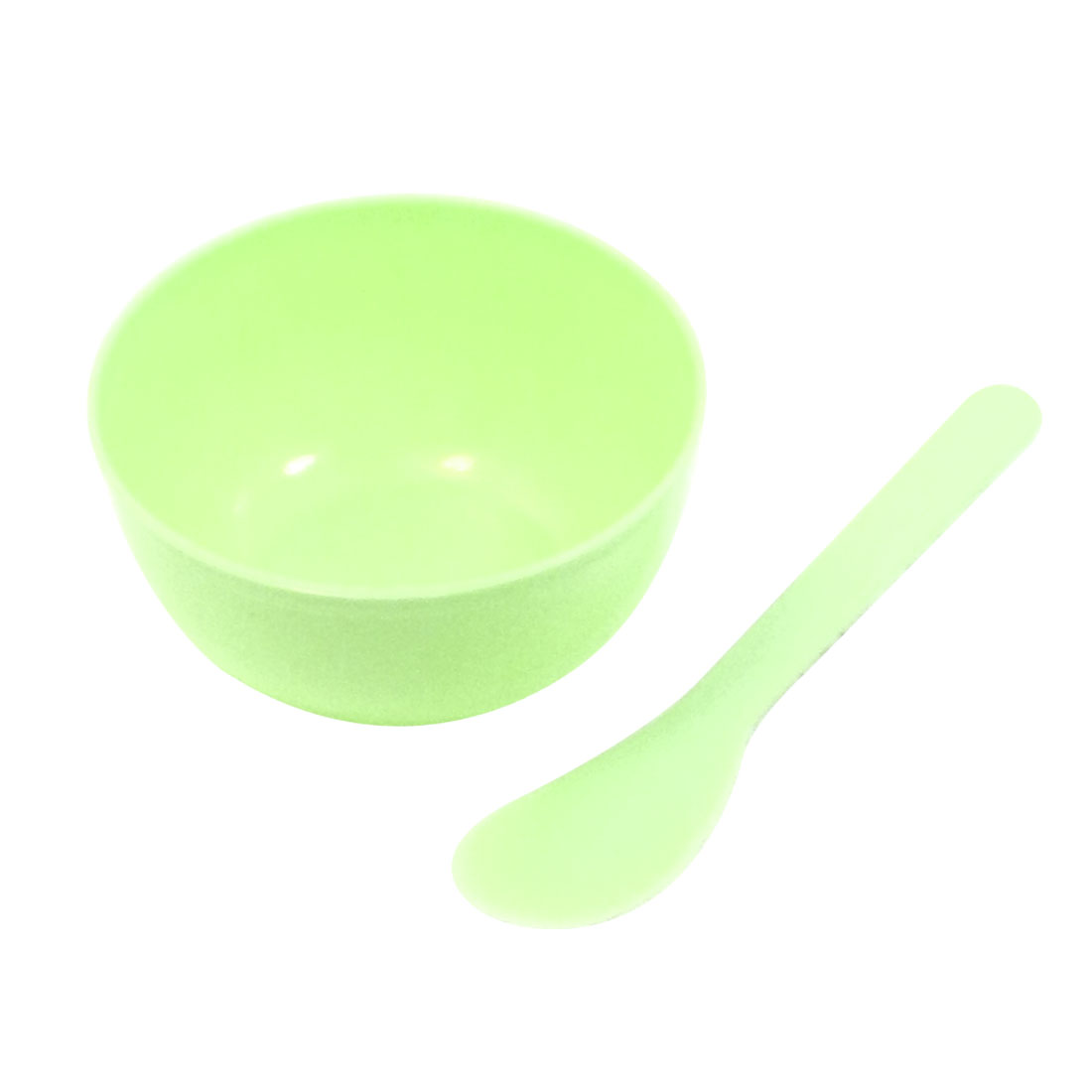 Green 2 In 1 Daily Beauty DIY Facial Mask Bowl Spoons Stick Tools Set