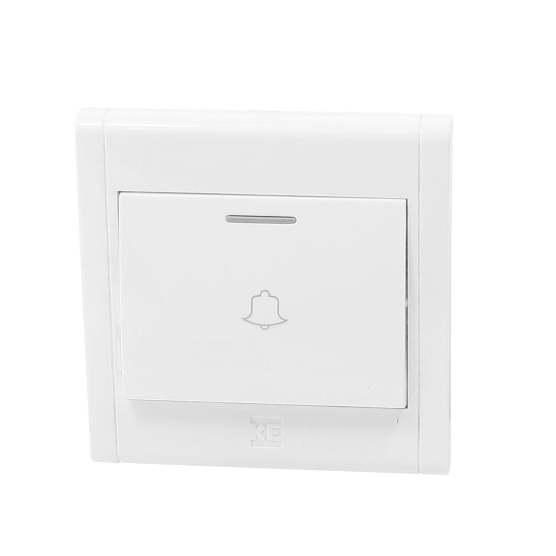 Bell Printed Square Shaped White 250V 16A Wall Mount Doorbell Switch Plate