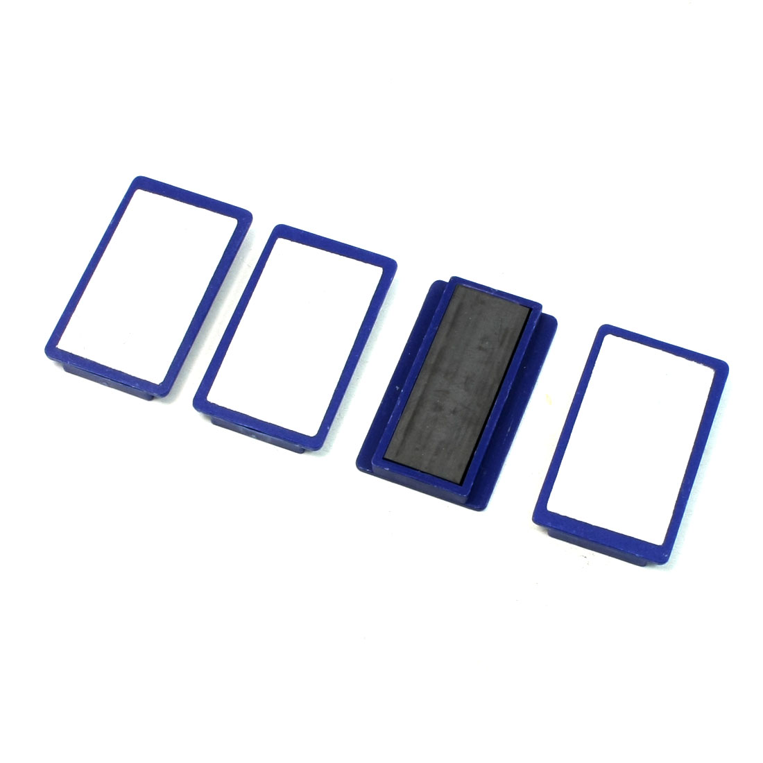 School Whiteboard Rectangle Magnetic Stripes Fixed File Tool Blue 4 Pcs