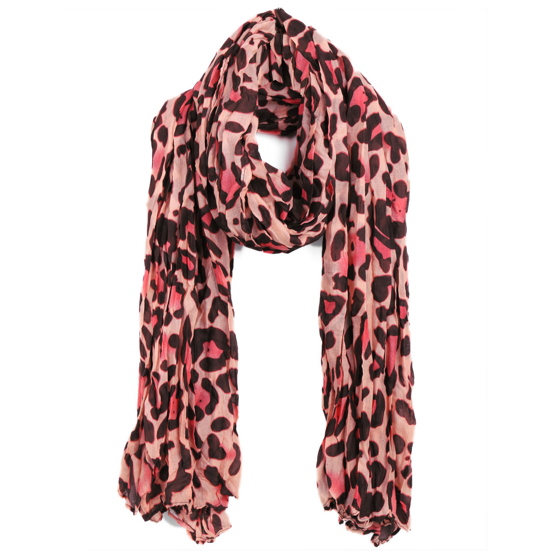 Women Leopard Prints Classic Soft Scarf Apricot Coffee