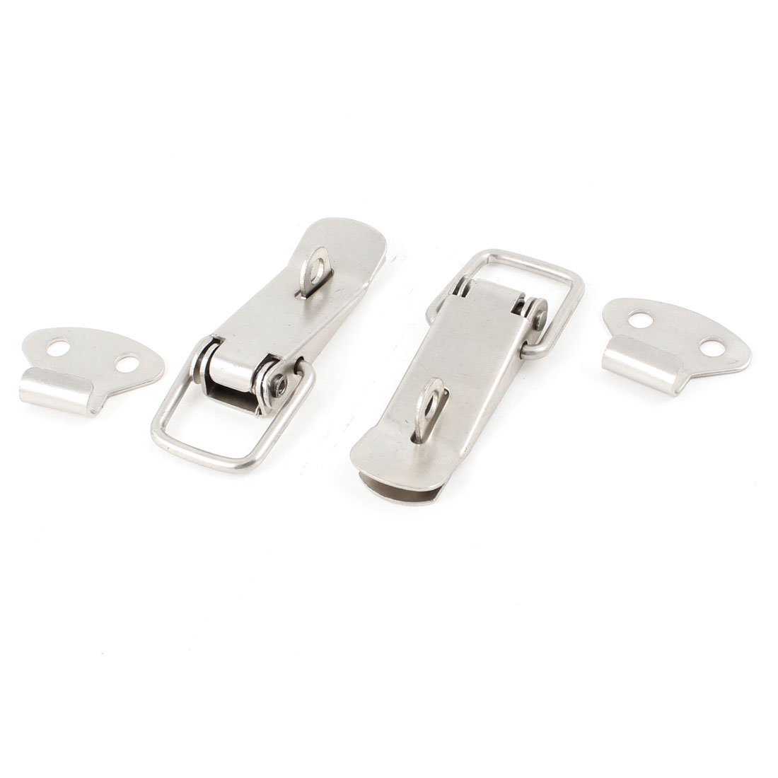 2pcs Silver Tone Spring Loaded Toggle Latch Catch for Cases Boxes Chests