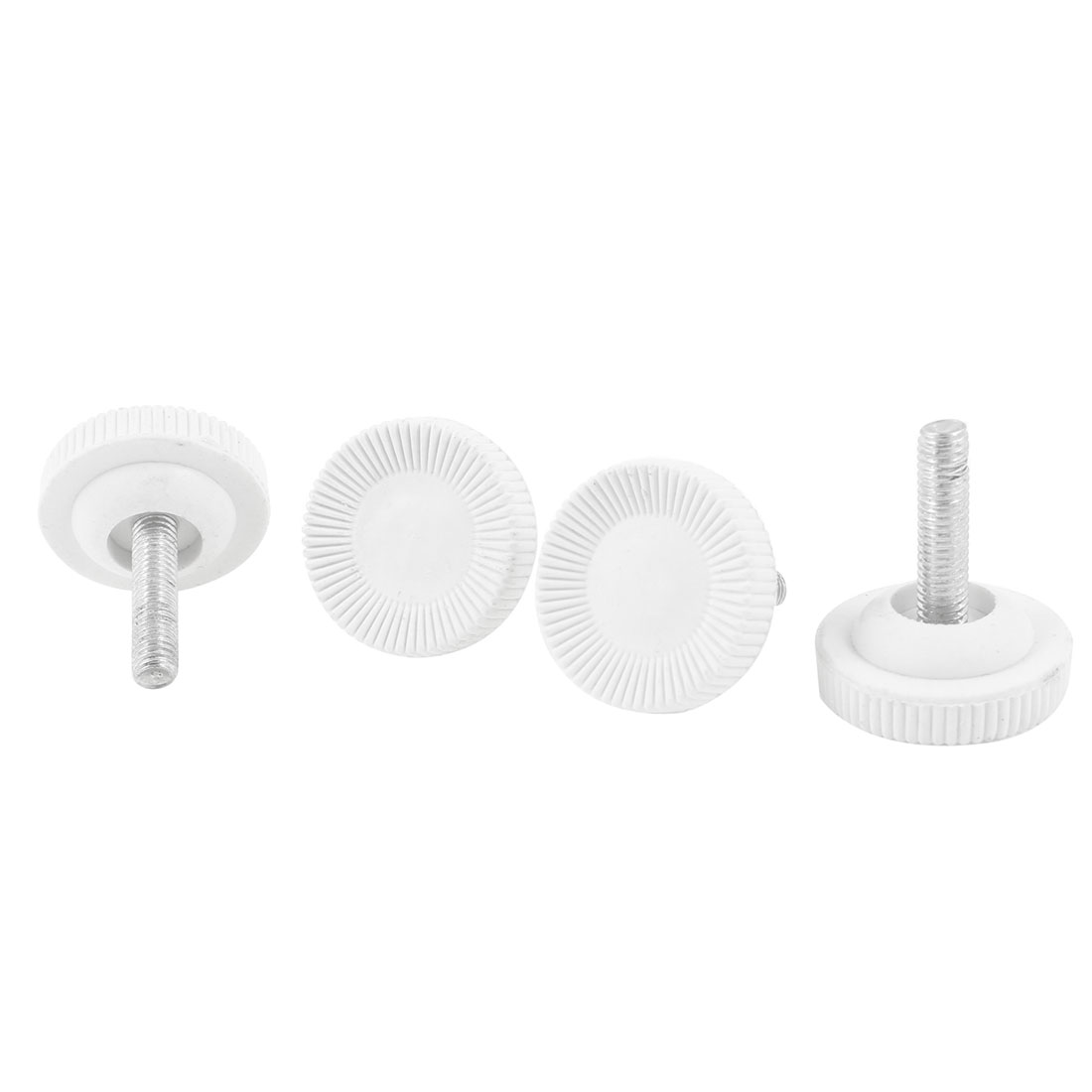 4 Pcs Screw On Type Furniture Glide Leveling Foot Adjuster 6mmx25mmx30mm
