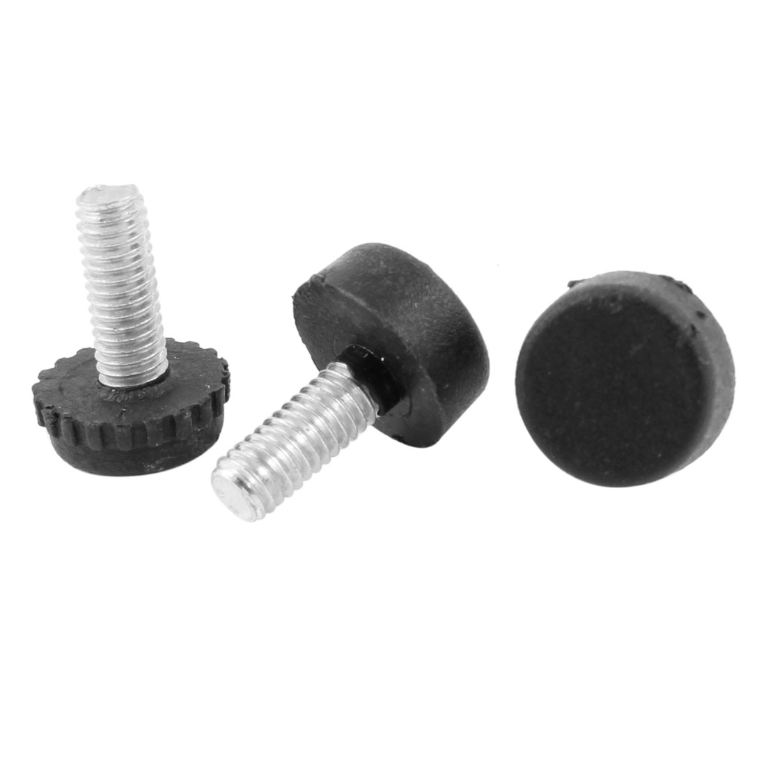 3 Pcs Screw On Type Furniture Glide Leveling Foot Adjuster 6mmx15mmx20mm