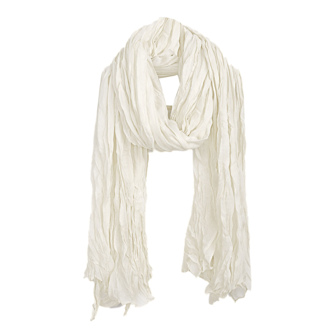 Women Semi Sheer Soft Stylish Scarf Beige