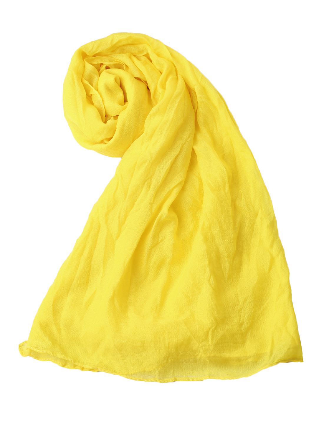 Women Ruched Classic Soft Simple Scarf Ochre