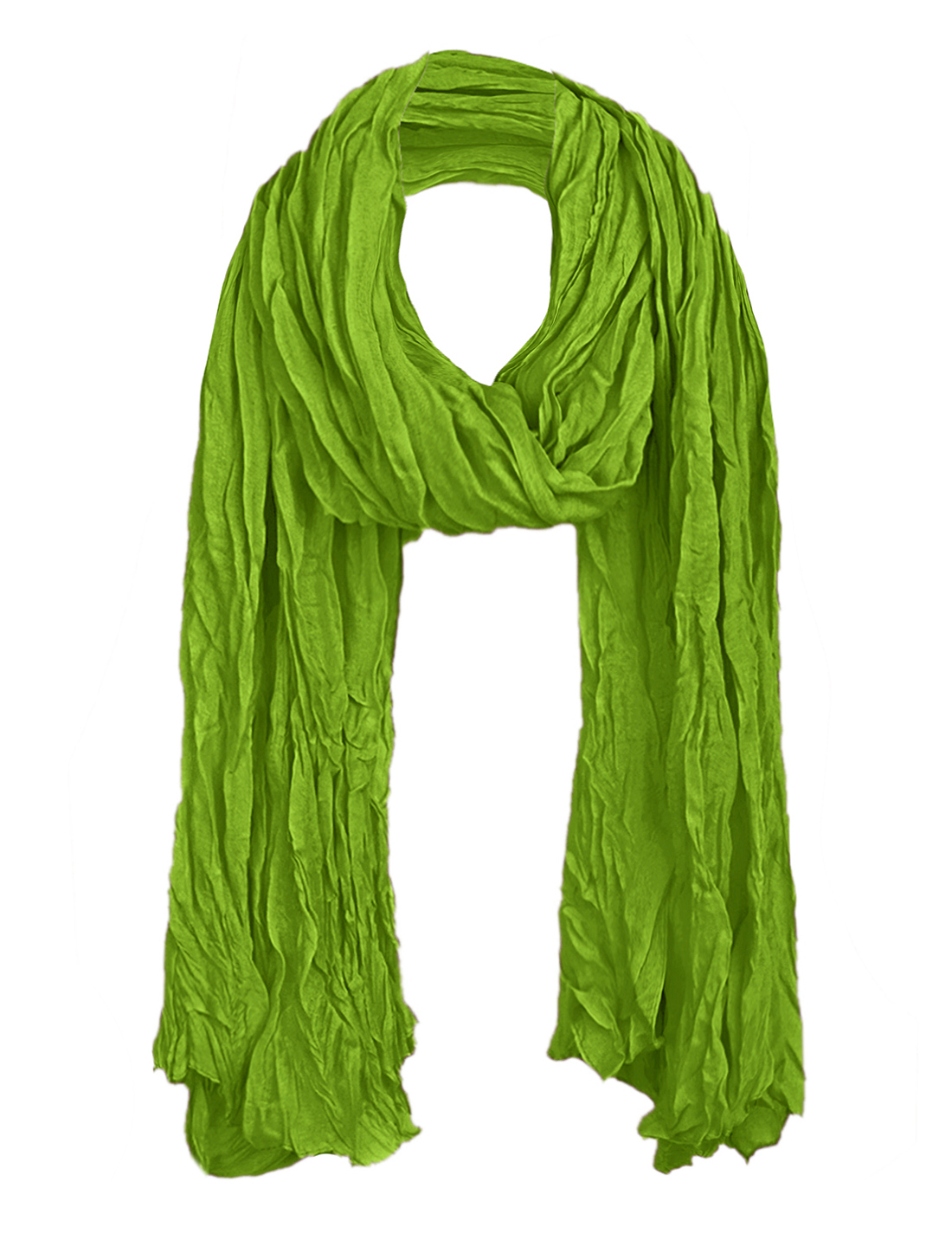 Women Semi Sheer Autumn Wearing Scarf Green