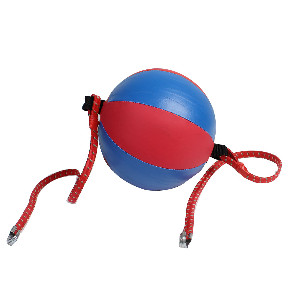 22cm Dia Red Blue Inflatable Faux Leather Punching Bag Speed Ball