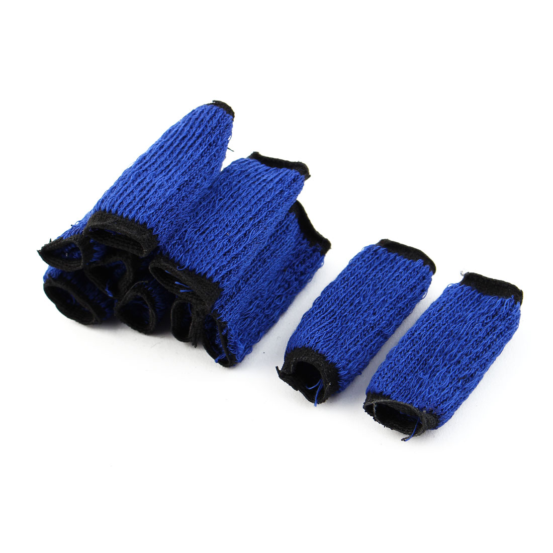 10 Pcs Volleyball Sports Neoprene Finger Sleeve Wrap Blue Black