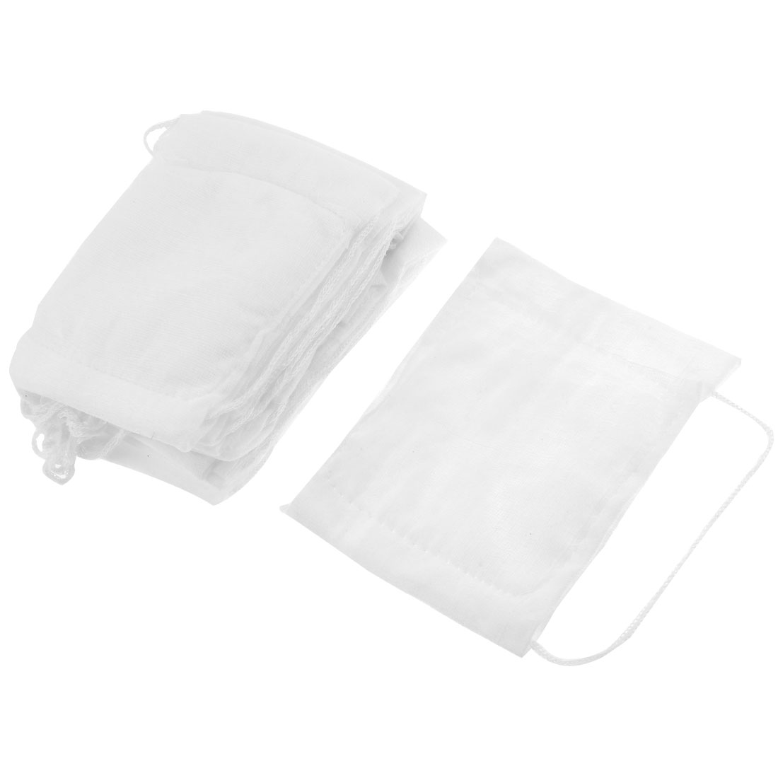 White Rectangle Shape Cotton Gauze Face Mask 10 Pcs