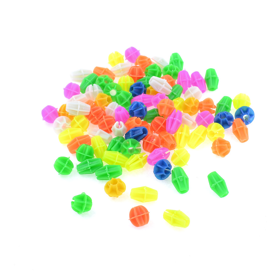 90 Pcs Assorted Color Cylindrical Oval Shape Plastic Bicycle Spoke Beads