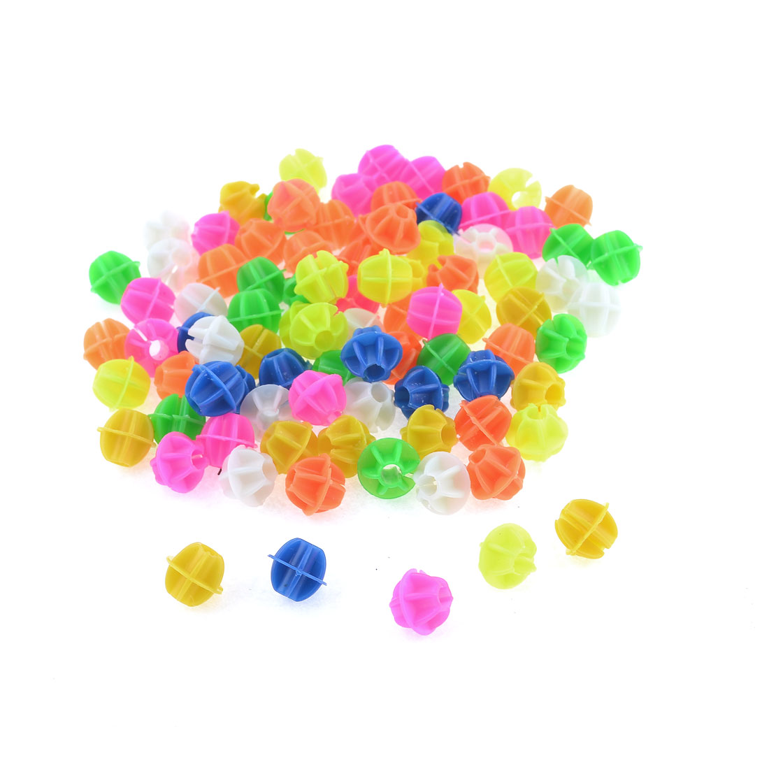 14mm Dia Colorful Plastic Bike Bicycle Spoke Beads Decoration 90 Pcs