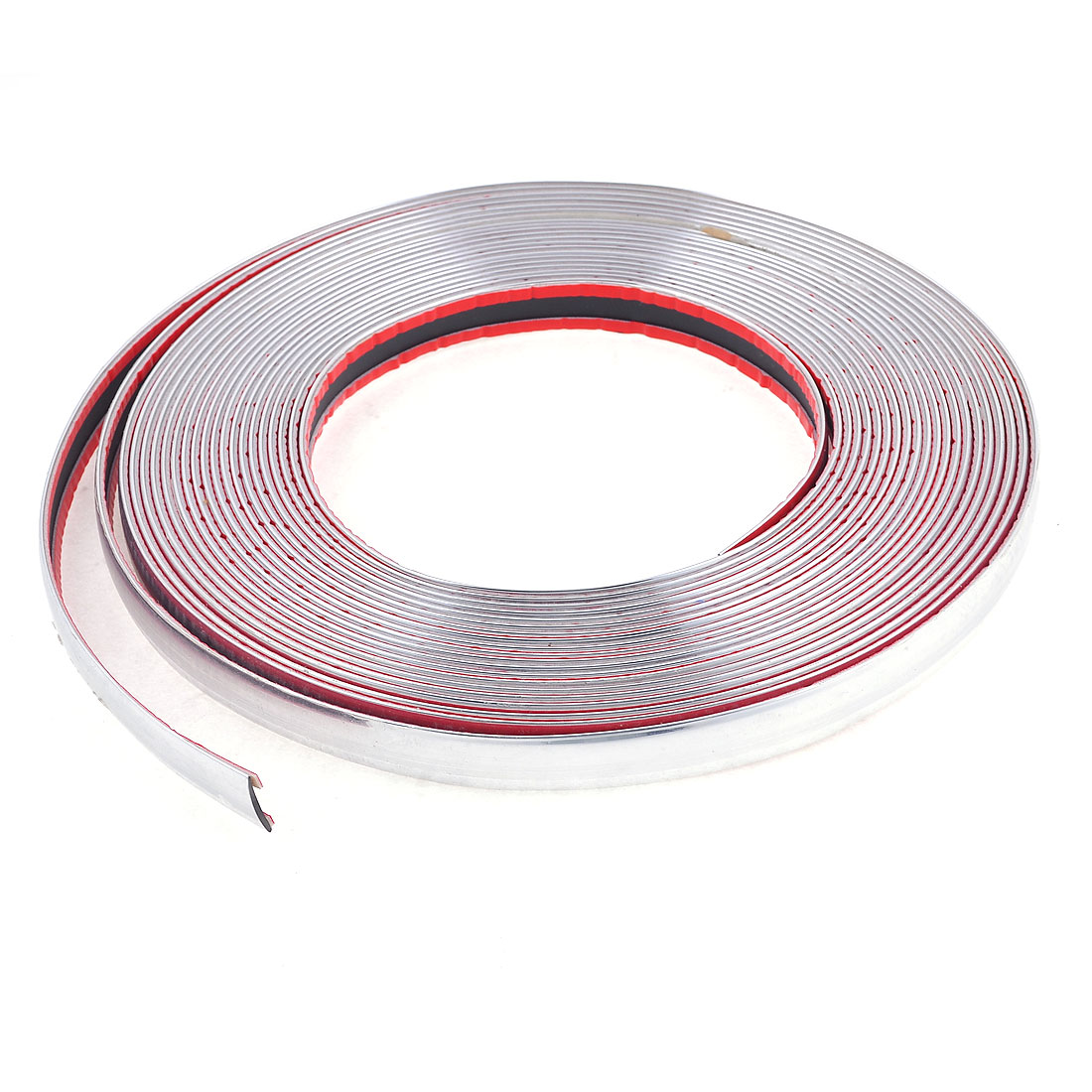 15M Car Vehicle Door Rubber Air Sealed Seal Strip Silver Tone