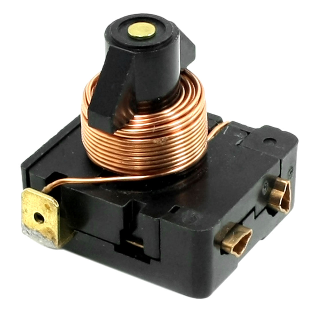 Black 1/6 PH Freezer Component Electromagnetic Compressor Starter Relay