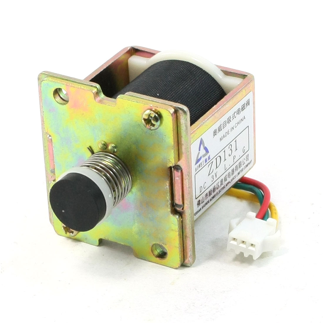 DC 3V Spiral Spring Opening Frame Push Type Electromagnet for Macro Water Heter