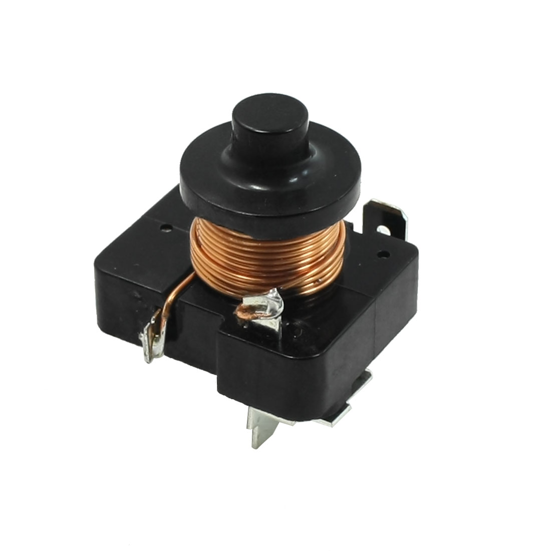 Black Housing Compressor Relay Starter for 3/8 HP Refrigerator