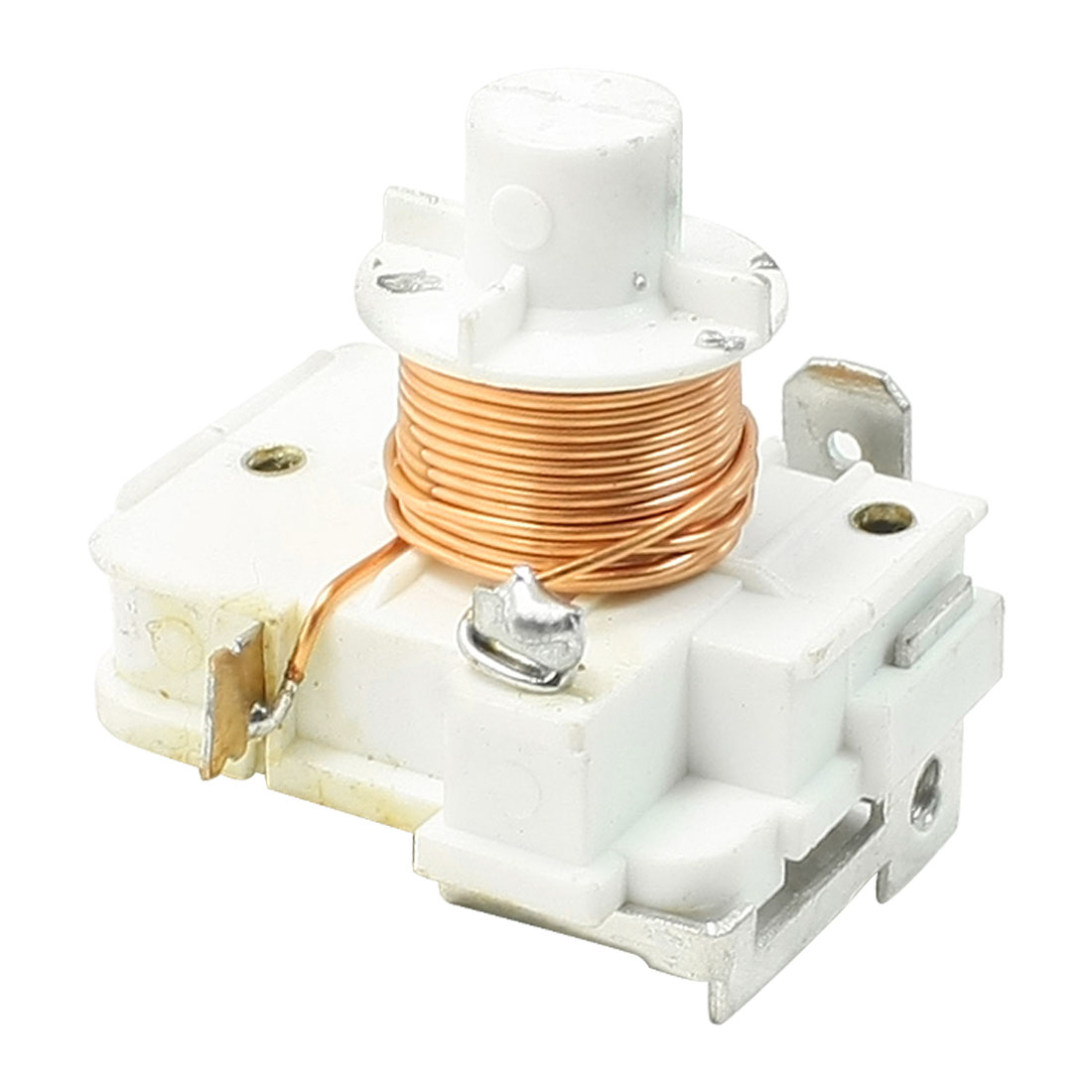 White 1/5 HP Fridge Refrigeration Replacement Short Relay Starter