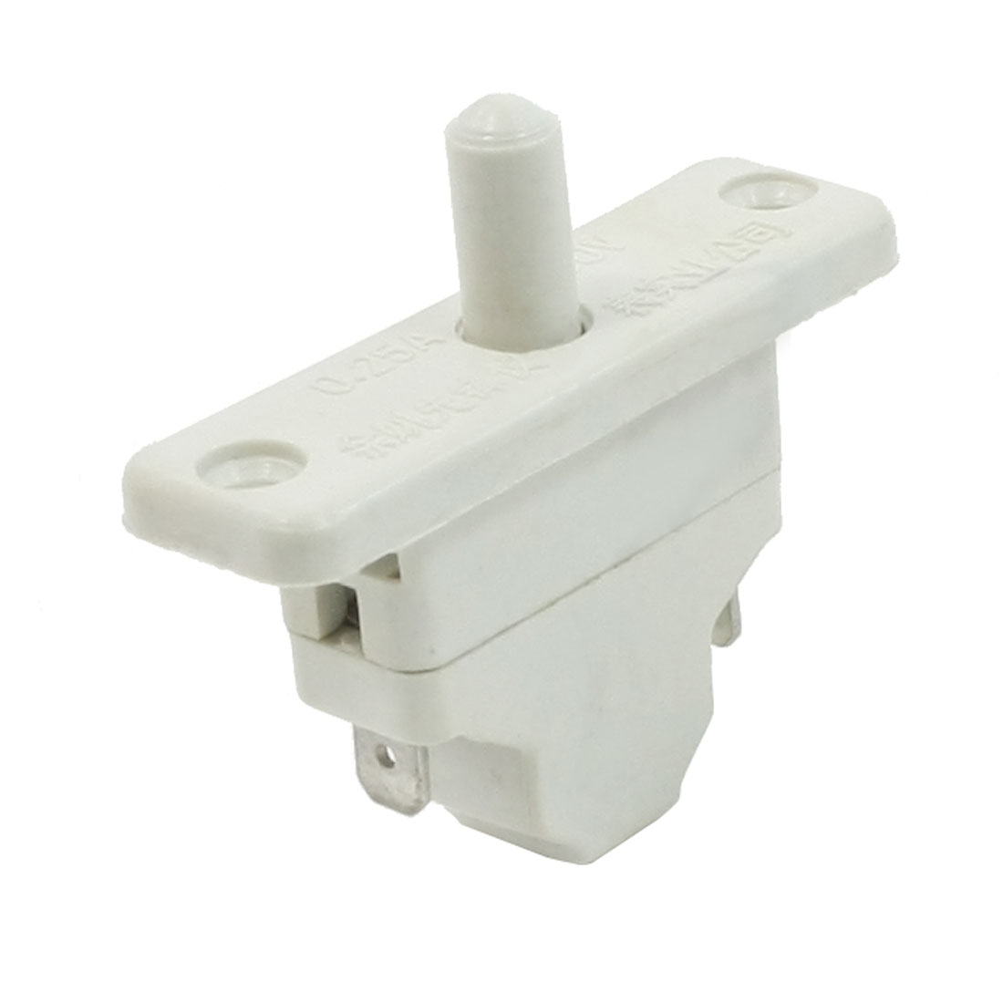 Refrigerator SPST Round Button Momentary Door Light Switch 250V Volt 0.25A