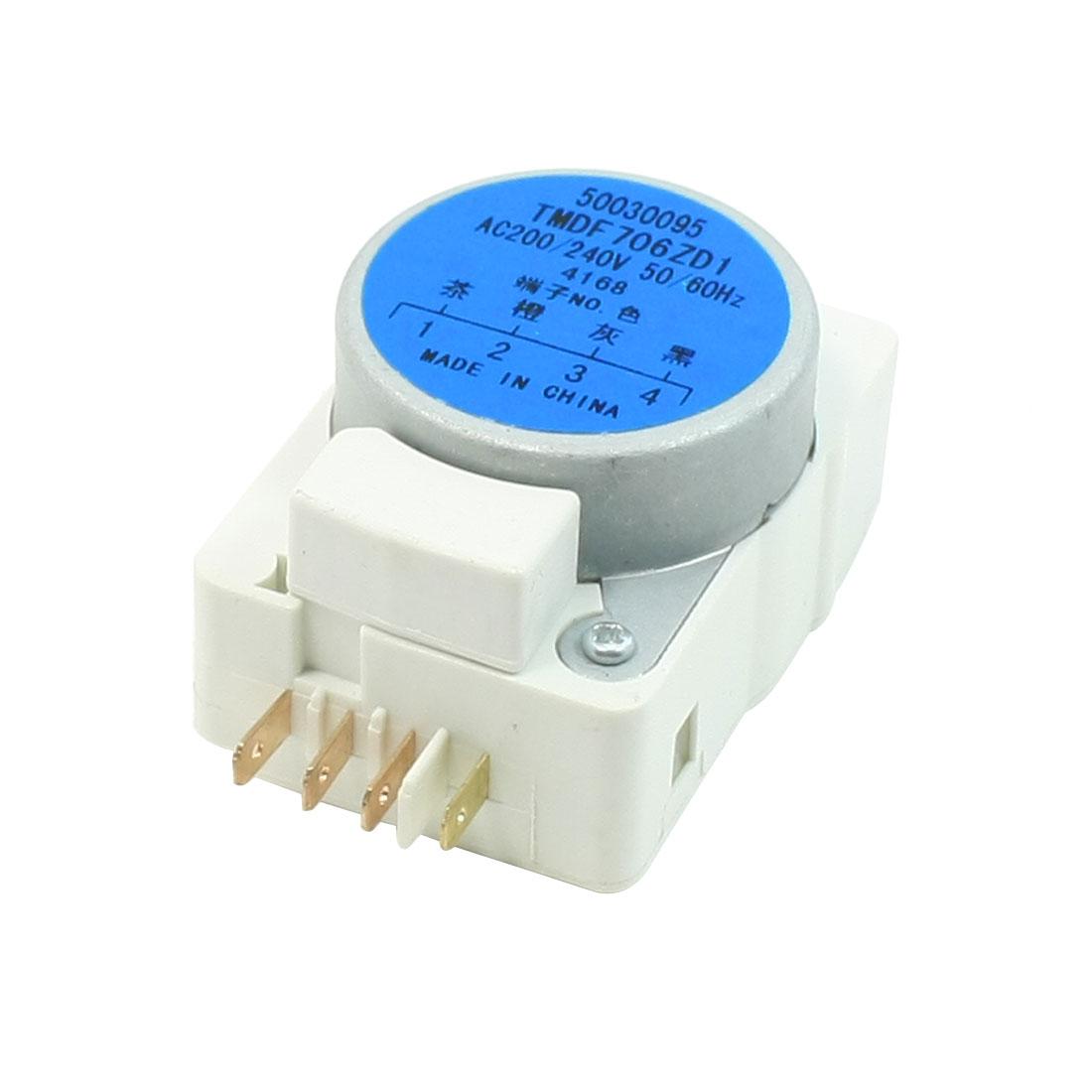4-Color Wire Terminals Refrigerator Defrost Timer AC200V/240V 50/60Hz TMDF706ZD1