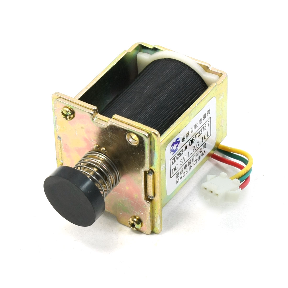 DC 3V Spring Loaded Open Frame Push Type Solenoid Electromagnet