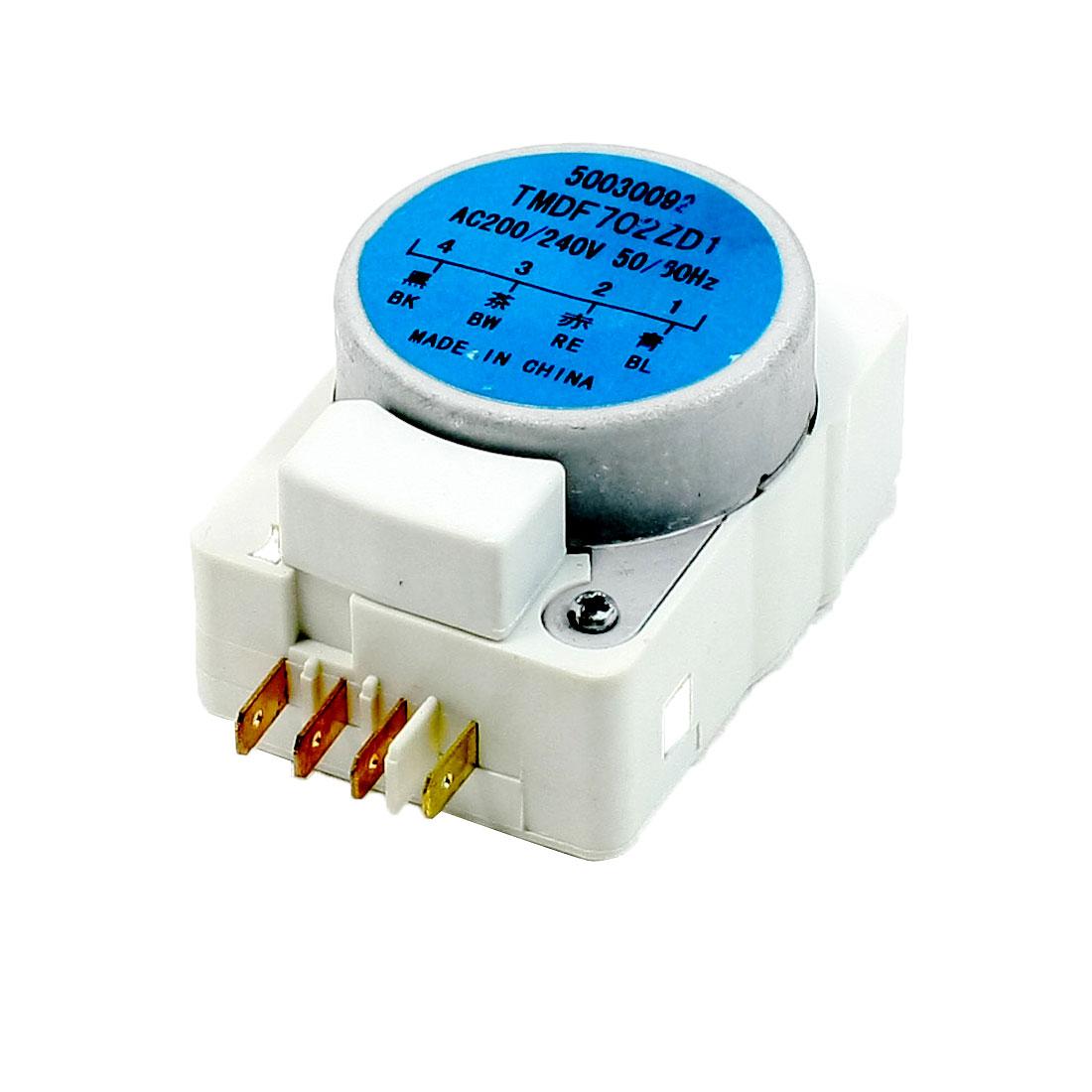 AC 200V/240V 50/60Hz Replacing Rectangle Shaped Refrigerator Defrost Timer