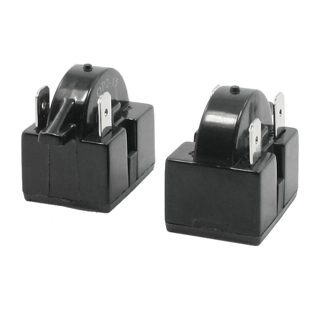 Black Plastic Housing 15 Ohm Refrigerator PTC Starter Relay 2 Pcs
