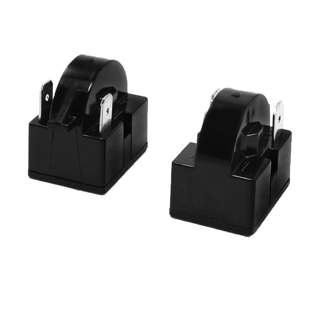 Black Plastic Housing 15 Ohm 2 Terminal Refrigerator PTC Starter Relay 2 Pcs