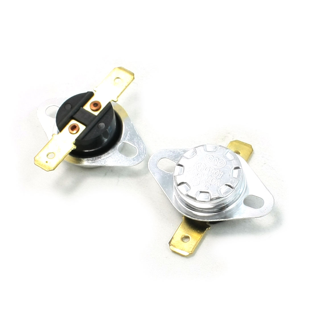 2 Pcs 65C Celsius N/C Soldering Type Temperature Control Switch 10A AC 250V